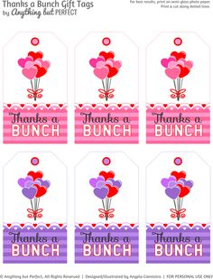 Thanks a Bunch - Tags - Free printable