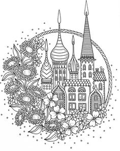 CASTLE LEAVES Johanna Basford To Colour In