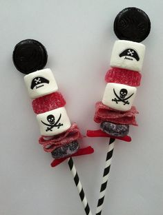 Personalized Candy Cabob skewer Construction pirate by FeteSetter, $27.00