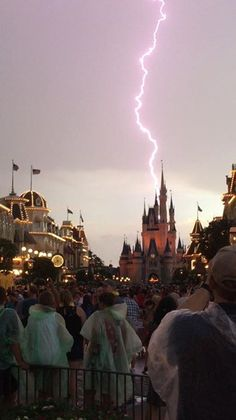 Photos: Lightning strikes over Cinderella Castle at Disney World