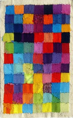 etsy:    (via Diei multi coloured hand woven tapestry by emmajo on Etsy)