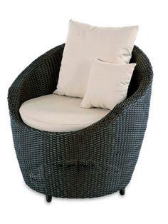 """Gartensessel """"Paradiso Chair"""" in der Geflecht-Farbe """"Coffee"""" - exklusiv bei Strandkorbwerk."""