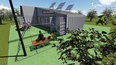 Proiect casa container parter P+Pod by AIA Proiect Romania - tel 0722494447 Case, Romania, Container, Modern, Trendy Tree