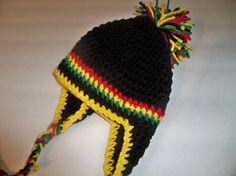 Reggae baby Flapper beanie