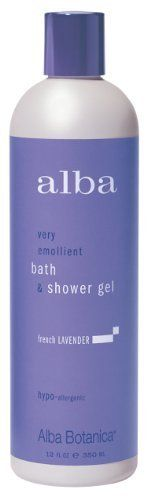Alba Bath & Shower gel, French Lavender, 12-Ounce Bottles (Pack of 3) by Alba. $22.96. Add generously to running water for rich, luxurious bubbles.. Excellent for all skin types. Made with a soothing and nourishing blend of lavender, aloe and calendula.. The aromatic bouquet of hand picked lavender will calm and comfort, gently easing daily stress.. Our unique blend of pure botanical extracts will refresh and revitalize your bathing routine. Natural emollients and s...