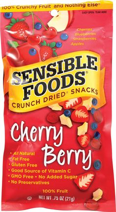 Sensible Foods Crunch Dried® Snacks Cherry Berry