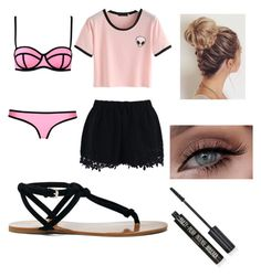"""""""To the beach"""" by isasaurus on Polyvore featuring Milly, Chicwish, Sole Society and Topshop"""