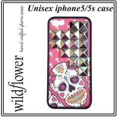 WILDFLOWER ワイルドフラワー アメリカン スカル iphone 5 5s case 死者の日 モチーフ カバー アイフォン ケース apple アイホン 海外 ブランド