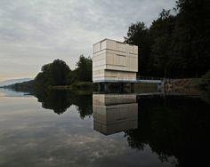 Infrastructure Buildings - Gold Award: Andreas Fuhrimann Gabrielle Hächler / Carlo Fumarola / Gilbert Isermann, Zurich, Switzerland: Zielturm Rotsee. Photo: Valentin Jeck