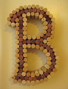 Wine Cork Letter Cork Art - Made to Order. $70.00, via Etsy.