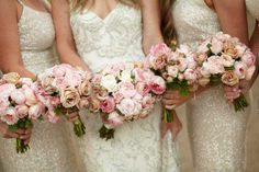 Wedding Flowers Melbourne, Bridal Bouquets & Arrangements  (these are David Austin English roses)
