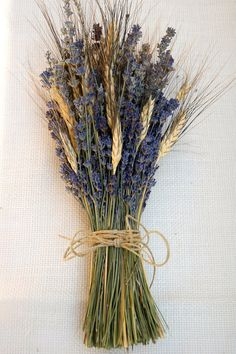 Beautiful Fall Wheat Wedding Decoration Ideas Easy To Make It Beautiful Fall Wheat Wedding Decoration Ideas Easy To Make It - Brides Bouquet of Lavender and Wheat Custom Made Handtied Wheat Wedding, Fall Wedding, Rustic Wedding, Wedding Ideas, Trendy Wedding, Dried Flowers, White Flowers, Wheat Centerpieces, Arte Floral