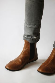 Image of Chelsea boots - Handmade zero drop tan Leather Boots