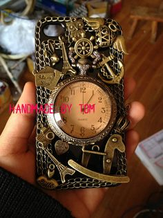 Retro nostalgic punk cool pocket watch iphone 5s case by hicase, $30.00
