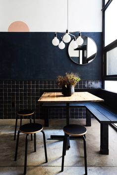 """Tokyo meets New York"" in dark-coloured Tonchin restaurant"