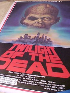 Vintage Twilight of the Dead Ultra Rare 1 Sh Movie by MAYSVTG, $224.95