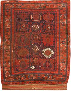 Antique Timuri Balouch Carpet Origin: Afghan Rugs | Size: 6 ft 7 in x 8 ft 4 in(2.01 m x 2.54 m)