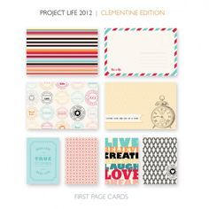 I love the Project Life way of scrapbooking... Clementine is my next kit :)