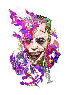 The Joker 'Suicide Squad' by Phil Dunne Comic Books Art, Comic Art, Book Art, Kings & Queens, Dc Comics T Shirts, 4 Tattoo, Univers Dc, Joker Art, Batman Universe