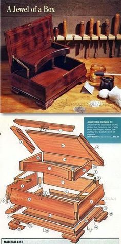 Jewelry Box Plans - Woodworking Plans and Projects   WoodArchivist.com