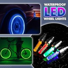 Professional Led Waterproof Wheel Lamp(2 PCS) Bicycle Wheel, Bicycle Tires, Jeep Wrangler Accessories, Truck Accessories, Auto Gif, Bmw Autos, Cool Gadgets To Buy, Cool Inventions, Custom Cars
