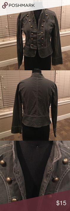 Ashley Military style Jacket Lightweight jacket with hook and eye closures. Ashley Jackets & Coats