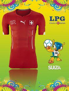 Camiseta de la selección de Suiza en el mundial #Brasil2014