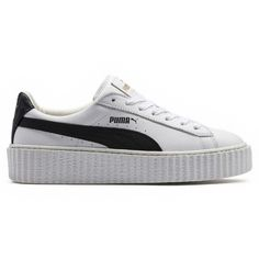 Puma Fenty X Puma by Rihanna Cracked Leather Creeper (470 BRL) ❤ liked on a99ec32a4