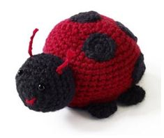Bugs might make you nervous, but Lorelei the Lady Bug is the cutest insect around. You will need scarlet and black Vanna's Choice yarn from Lion Brand to make this adorable little ladybug. Crochet it and add it to your crochet amigurumi collection. Crochet Amigurumi Free Patterns, Crochet Geek, All Free Crochet, Crochet Mittens, Cute Crochet, Crochet Yarn, Crochet Toys, Knitting Patterns, Lady Bug