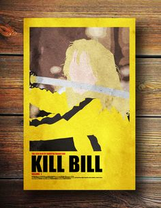 Kill Bill -Movie Poster. $17.00, via Etsy. Love his style!