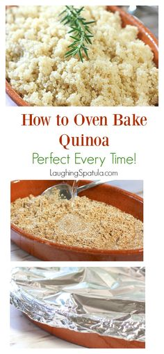 How to Oven Bake Quinoa White and Brown Rice! Step away from. How to Oven Bake Quinoa White and Brown Rice! Step away from the stove top and bake all your grains to perfection! Baked Quinoa Recipes, Vegetarian Recipes, Healthy Recipes, Kale Recipes, Healthy Foods, Brown Rice Cooking, Cooking Corn, Clean Eating Snacks, Healthy Eating
