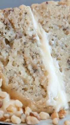 Best Ever Banana Cake with Cream Cheese Frosting ~ So moist and delicious