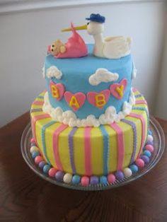 classic stork cake #babyshower
