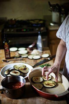 eggplant casserole prep