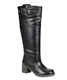 Take a look at this Black Quentin Boot by Bamboo on #zulily today!