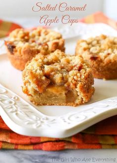 Salted Caramel Apple Cups – Bauer's Market & Garden Center Apple Desserts, Mini Desserts, Fall Desserts, Apple Recipes, Just Desserts, Fall Recipes, Sweet Recipes, Delicious Desserts, Dessert Recipes