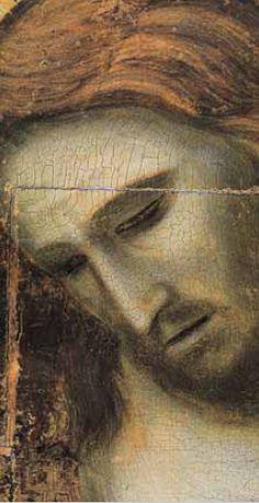 Crucifix, c.1304 , ( detail ) tempera on panel by Giotto di Bondone (1266–1337) Location : Museo degli Eremitani, Padua