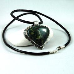 Moss necklace by wazkastudio on Etsy