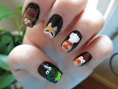 the muppets nails kermit the frog swedish chef fozzie bear miss piggy beaker