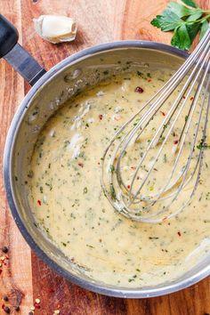 Cowboy Butter Dipping Sauce - This garlic butter dipping sauce is the bomb! : Cowboy Butter Dipping Sauce - This garlic butter dipping sauce is the bomb! Sauce Steak, Garlic Butter Steak Sauce, Steak Butter, Garlic Aoli Recipe, Garlic Dip, Lemon Butter Sauce, Marinade Sauce, Recipes With Garlic Sauce, Steak Sandwich Sauce