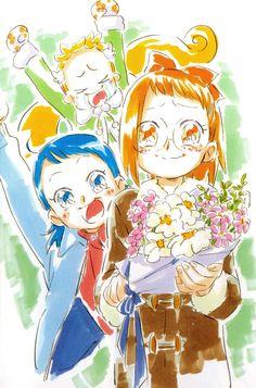 Ojamajo Doremi 16 ~ Umakoshi Yoshihiko Illustrations - Aiko & Azuki