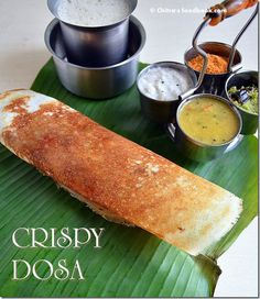 Crispy dosa recipe with idli dosa batter using mixie - SouthIndian breakfast recipe(Best Eyeliner In India) Breakfast Restaurants, Breakfast Snacks, Breakfast Dishes, Breakfast Recipes, Indian Food Recipes, Real Food Recipes, Vegetarian Recipes, Ethnic Recipes, Indian Foods