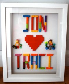 Perfect For Wedding Gift Or Loved Ones Personalised Lego Art with Names and Personalised Minifigures by NotinmyhouseUK on Etsy