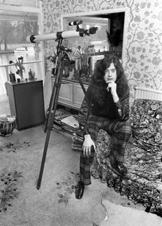 Jimmy Page, at his home in Pangbourne, Berkshire, England, 1970