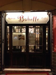 Babette for dinner, on Via Margutta,