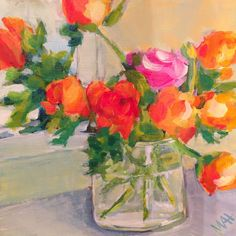 "Daily Paintworks - "" Ranunculas and Realizations"" - Original Fine Art for Sale - © Whitney Heavey Daily Painters, Ranunculus, Art For Sale, Flower Art, Still Life, Fine Art, Gallery, Flower Paintings, Artist"