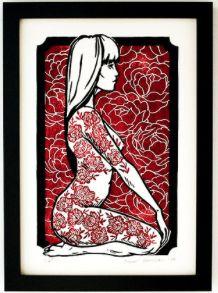 Excellent Linocut print artist - inspiration