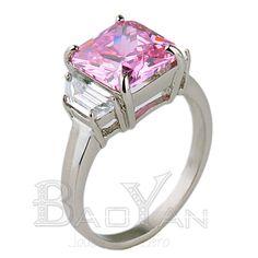 amatista anillo compromiso de joyas de acero en estilo de mar