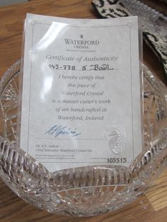 Waterford Crystal Master Cutters 8' Serving Bowl by myabbiesattic, $175.00