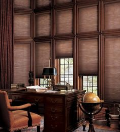Hunter Douglas Duette Cellular Shades in Office